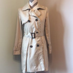 H&M Khaki Trench Coat Size 4